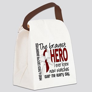 Bravest Hero I Knew Head and Neck Cancer Canvas Lu