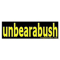 unbearabush Bumper Bumper Sticker