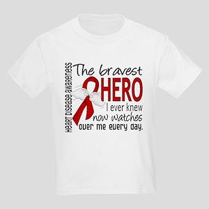 Bravest Hero I Knew Heart Disease Kids Light T-Shi