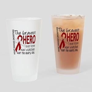 Bravest Hero I Knew Heart Disease Drinking Glass