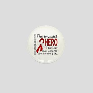 Bravest Hero I Knew Heart Disease Mini Button