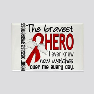 Bravest Hero I Knew Heart Disease Rectangle Magnet