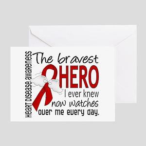 Bravest Hero I Knew Heart Disease Greeting Card