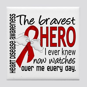 Bravest Hero I Knew Heart Disease Tile Coaster
