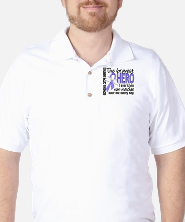 Bravest Hero I Knew Esophageal Cancer Golf Shirt