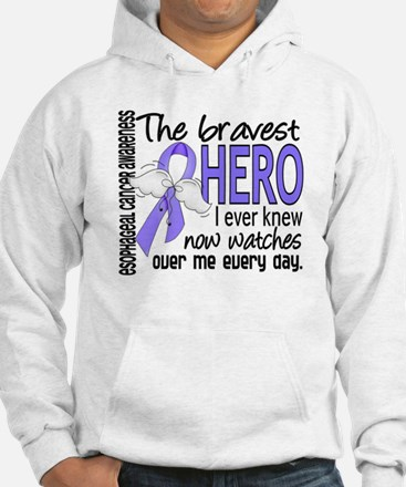 Bravest Hero I Knew Esophageal Cancer Hoodie