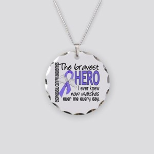 Bravest Hero I Knew Esophageal Cancer Necklace Cir