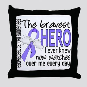 Bravest Hero I Knew Esophageal Cancer Throw Pillow