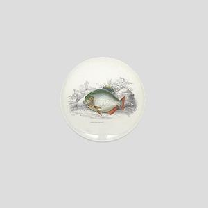 Piranha Fish Mini Button