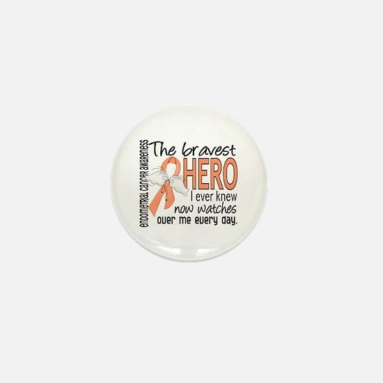 Bravest Hero I Knew Endometrial Cancer Mini Button