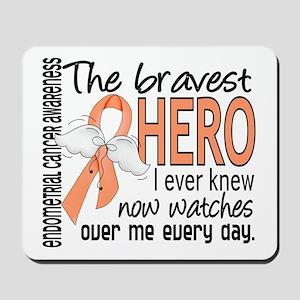 Bravest Hero I Knew Endometrial Cancer Mousepad