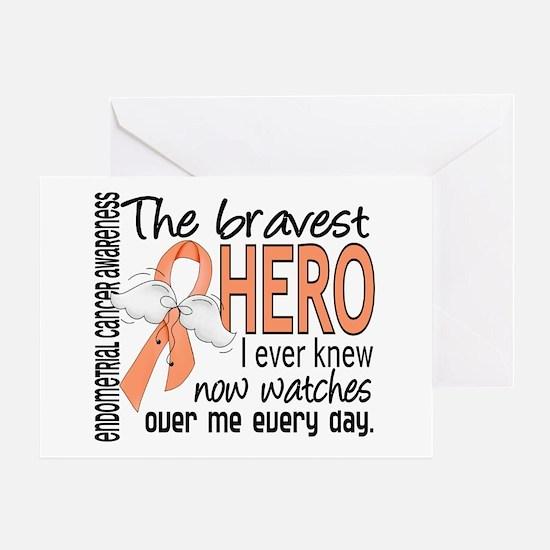 Bravest Hero I Knew Endometrial Cancer Greeting Ca