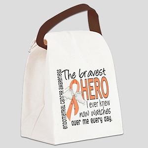 Bravest Hero I Knew Endometrial Cancer Canvas Lunc