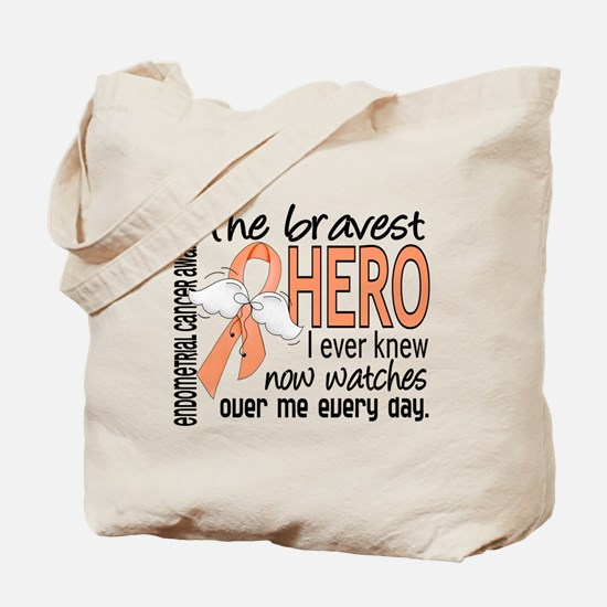 Bravest Hero I Knew Endometrial Cancer Tote Bag