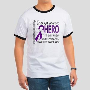 Bravest Hero I Knew Cystic Fibrosis Ringer T