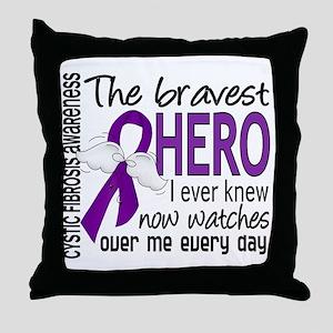 Bravest Hero I Knew Cystic Fibrosis Throw Pillow