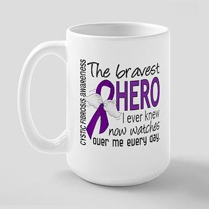 Bravest Hero I Knew Cystic Fibrosis Large Mug