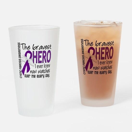 Bravest Hero I Knew Cystic Fibrosis Drinking Glass