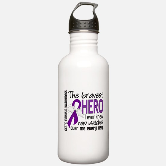 Bravest Hero I Knew Cystic Fibrosis Water Bottle