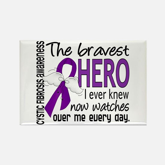 Bravest Hero I Knew Cystic Fibrosis Rectangle Magn