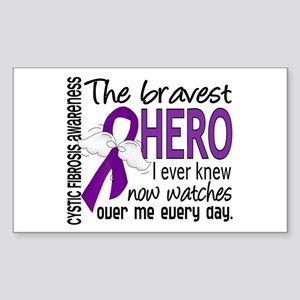 Bravest Hero I Knew Cystic Fibrosis Sticker (Recta