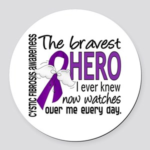 Bravest Hero I Knew Cystic Fibrosis Round Car Magn
