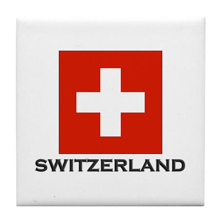 Switzerland Flag Stuff Tile Coaster