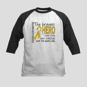 Bravest Hero I Knew Childhood Cancer Kids Baseball