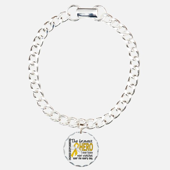 Bravest Hero I Knew Childhood Cancer Bracelet