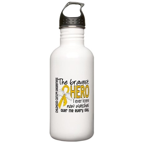 Bravest Hero I Knew Childhood Cancer Stainless Wat