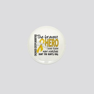 Bravest Hero I Knew Childhood Cancer Mini Button