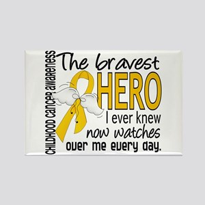 Bravest Hero I Knew Childhood Cancer Rectangle Mag