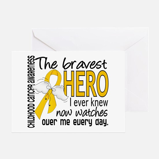 Bravest Hero I Knew Childhood Cancer Greeting Card