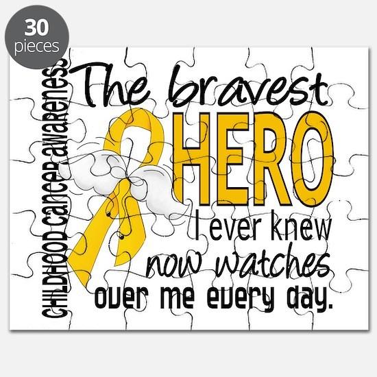Bravest Hero I Knew Childhood Cancer Puzzle