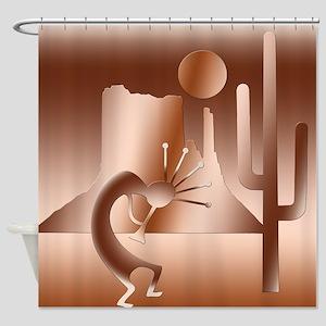 Kokopelli Desert Abstract #15 Shower Curtain
