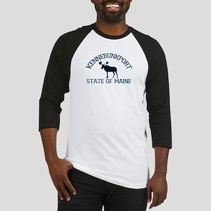 Kennebunkport ME - Moose Design. Baseball Jersey