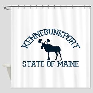 Kennebunkport ME - Moose Design. Shower Curtain