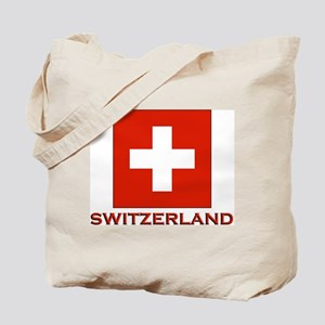 Switzerland Flag Merchandise Tote Bag