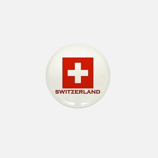 Switzerland Flag Merchandise Mini Button
