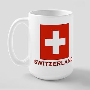 Switzerland Flag Merchandise Large Mug