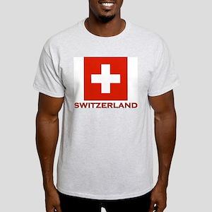 Switzerland Flag Merchandise Ash Grey T-Shirt