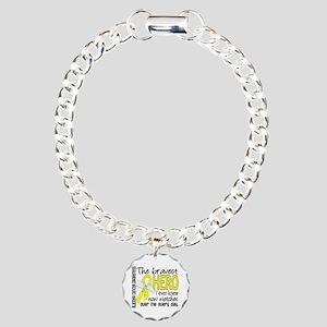 Bravest Hero I Knew Bladder Cancer Charm Bracelet,