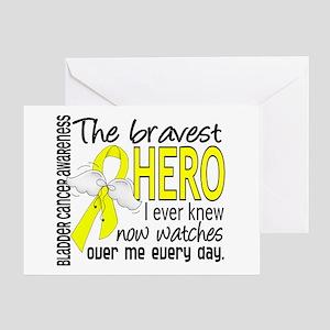Bravest Hero I Knew Bladder Cancer Greeting Card