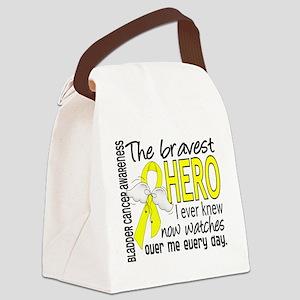Bravest Hero I Knew Bladder Cancer Canvas Lunch Ba