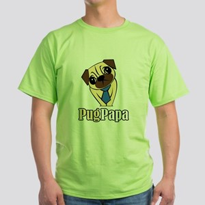 Pug Papa Green T-Shirt