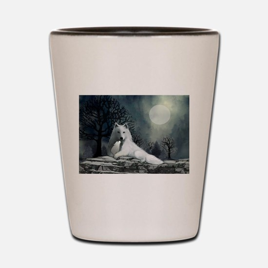 White Wolf and Pup Shot Glass