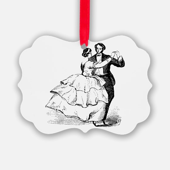 Old-time Ballroom Dancers Ornament