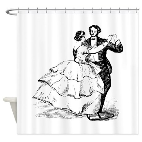 Old Time Ballroom Dancers Shower Curtain By Designsbymike