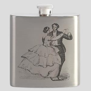 Old-time Ballroom Dancers Flask