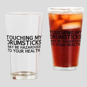 Drumsticks Hazard Drinking Glass